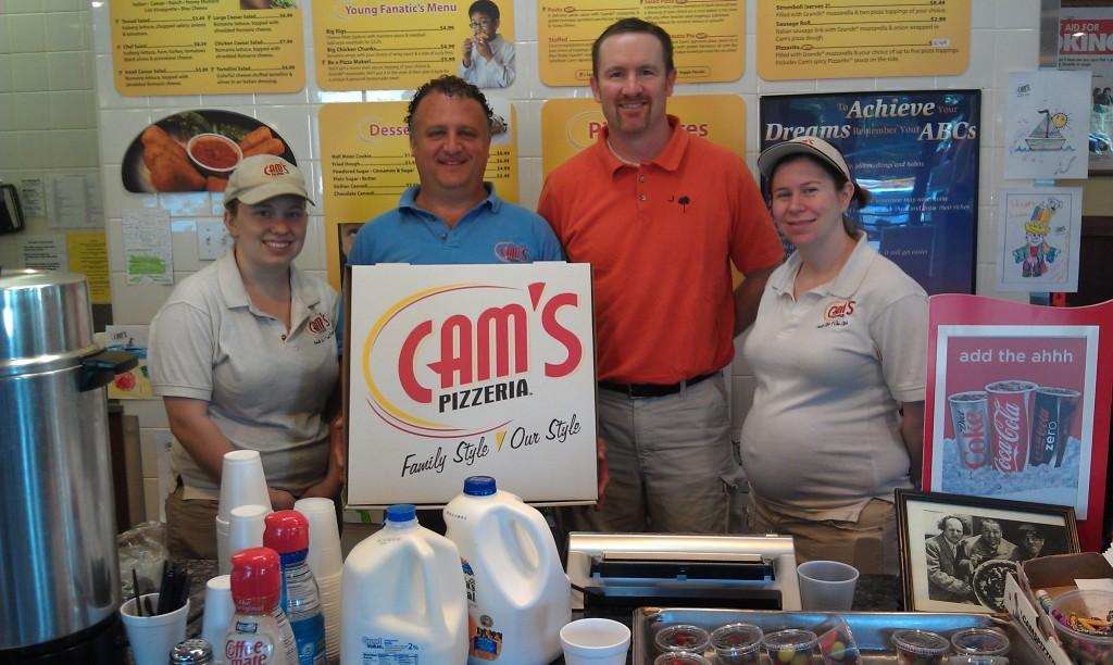 Cam's Pizzeria (Tony Calascibetta) helping out