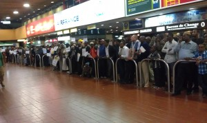 Kenya Taxi Drivers Waiting To Pick Up Arrivals