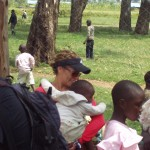 World Teacher Aid Donor Collete holding an Kenyan baby