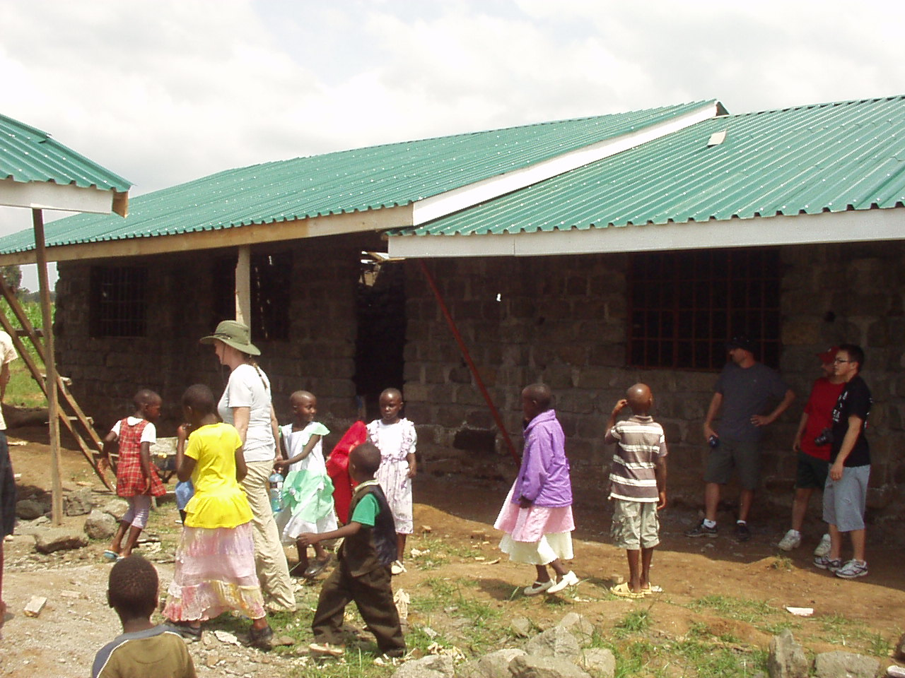 Helping to build a school In Nakuru Kenya