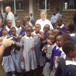 Brooke Justin and Garrett with Happy Kenyan students