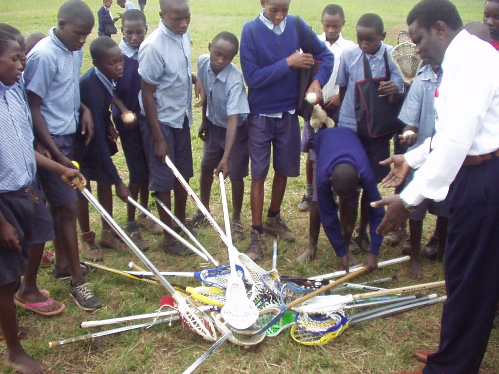Lacrosse sticks donated to Kenya by World teacher