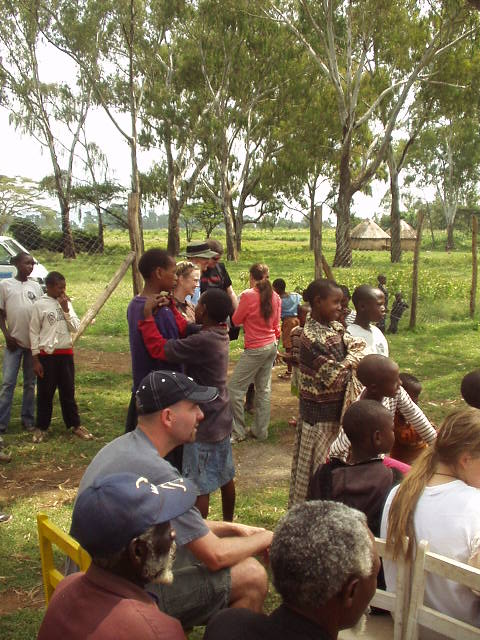 World Teacher Aid Donor Scott at Church Service