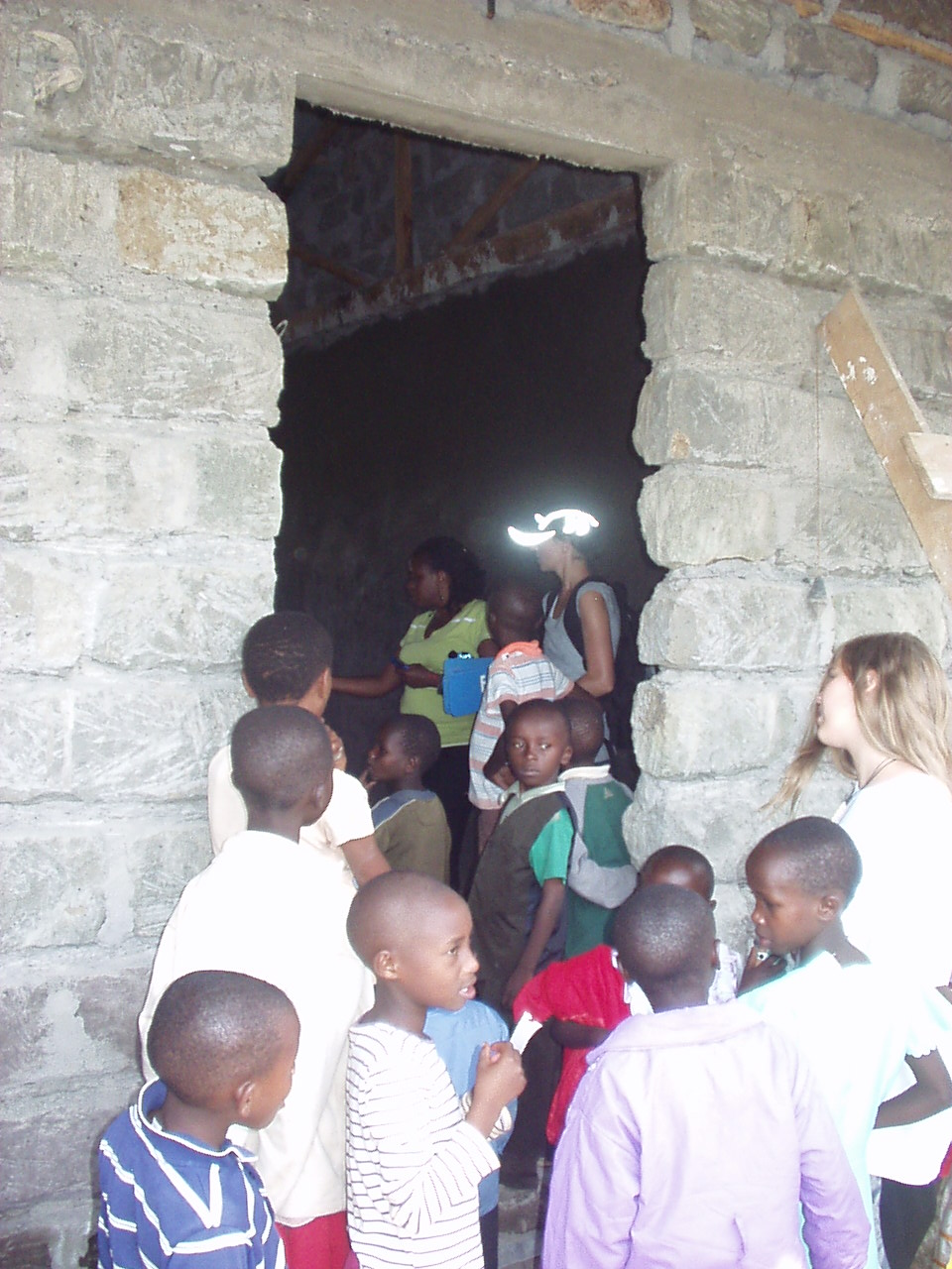 Checking out the School building under construction