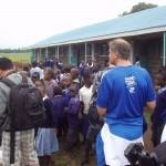 David Frey starting to rile the kids up in Kenya
