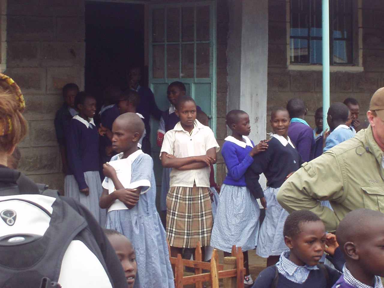 Kenya students Waiting for the donated items from World Teacher Aid