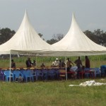 Tent set up for the World Teacher Aid Kenyan school dedication ceremony