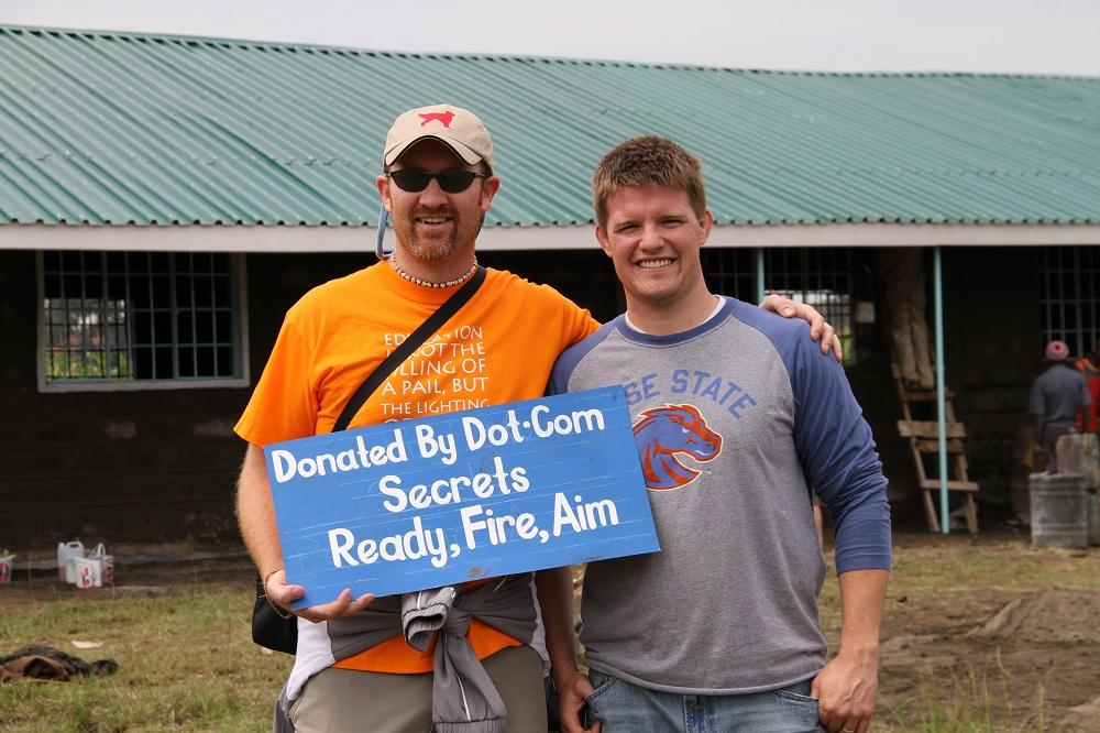 Dave Gardner and Russell Brunson on the World Teacher Aid Kenya trip through Dot Com Secrets X